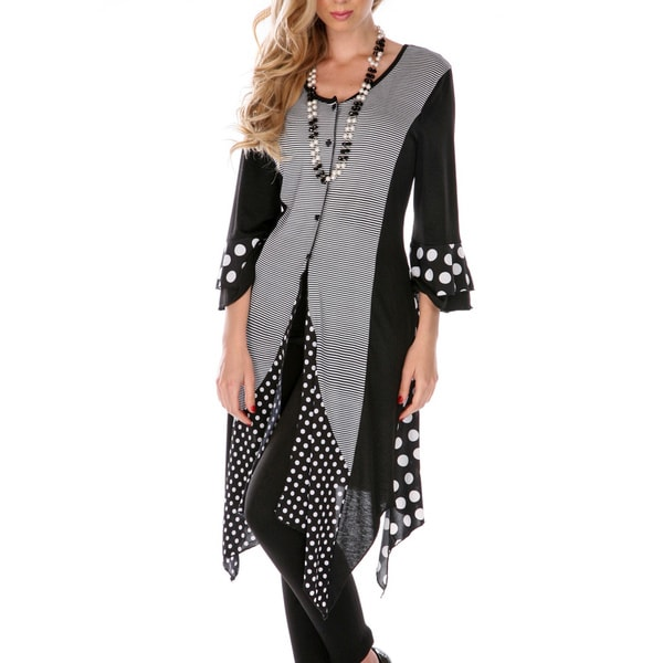 Firmiana Women's Mixed Print Spliced Duster Dress