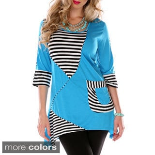 Women's Two-tone Patchwork Spliced Top