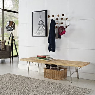 Vantage Natural Wood Top Medium Bench