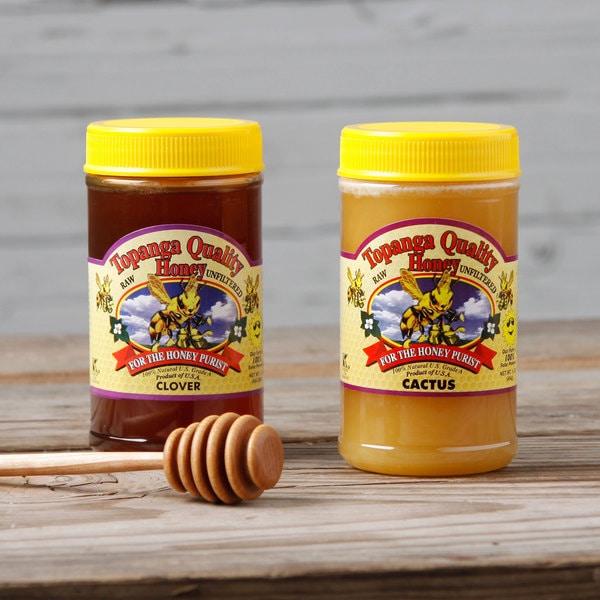 Topanga Quality Cactus and Clover Raw Honey