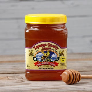 Topanga Quality 3-pound Raw Unfiltered Eucalyptus Honey