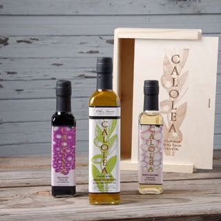 Calolea Olive Oil and Vinegar Deluxe Gift Box Set