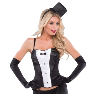 Masquerade Women's Lycra Corset with Mini Hat