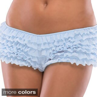 Coquette Women's Ruffle Shorts with Back Bow Detail