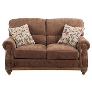 Emerald Grand Rapids Brown Rustic Loveseat