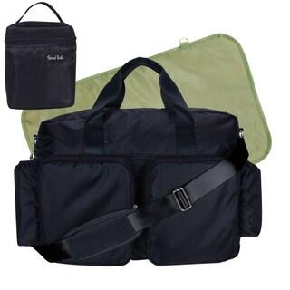 Trend Lab 4-piece Deluxe Duffle/ Bottle Bag Kit in Black