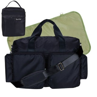 Trend Lab 4-piece Deluxe Duffle/ Bottle Bag Kit in Black