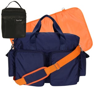 Trend Lab 4-Piece Deluxe Duffle/ Bottle Bag Kit in Navy