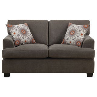 Emerald Lorena Platinum Grey 2-pillow Loveseat