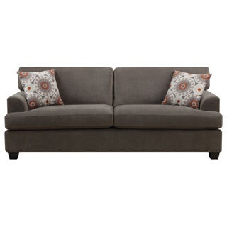 Emerald Lorena Platinum Grey 2-Pillow Sofa