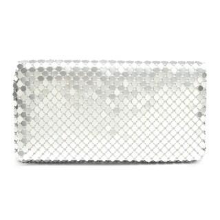 J. Furmani Reflective Metal Mesh Envelope Evening Bag