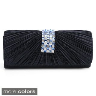 J. Furmani 'Ashley' Pleated Satin Evening Bag