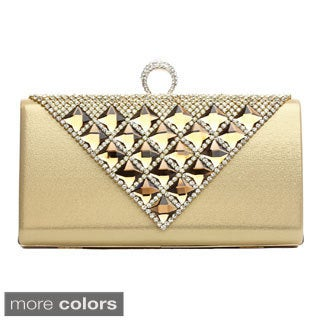 J. Furmani 'Michelle' Pyramid Studded Evening Bag