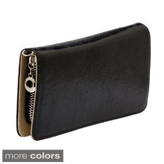 J. Furmani Solid Zip-around Wristlet Wallet