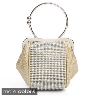 J. Furmani 'Angelina' Ring Handle Glitter Mesh Evening Bag