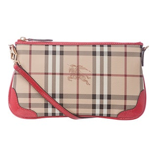 Burberry 3910756 Haymarket Patent Peyton Shoulder Bag