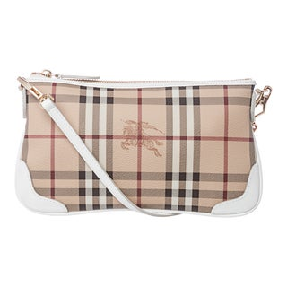 Burberry 3910772 Haymarket Patent Peyton Shoulder Bag