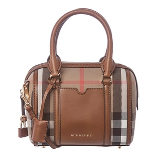 Burberry 3903916 Small House Check Sartorial Bowling Bag