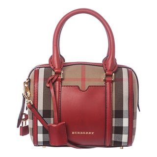 Burberry 3903919 Small House Check Sartorial Bowling Bag
