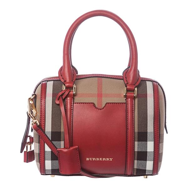 Burberry 3903919 Small House Check Sartorial Bowling Bag