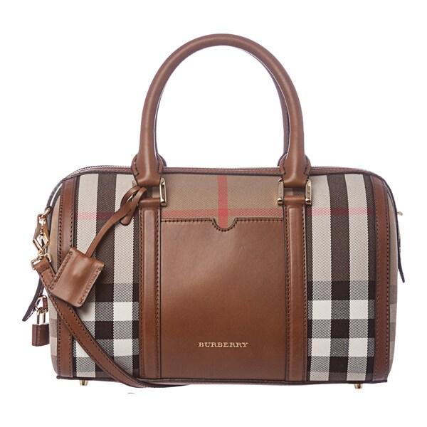 Burberry 3903914 Medium House Check Sartorial Bowling Bag