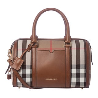 Burberry 3903914 Medium House Check Sartorial Bowling Bag