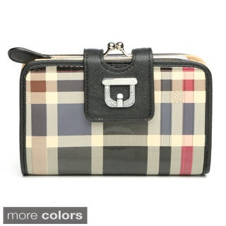 J. Furmani Plaid Wallet Clutch