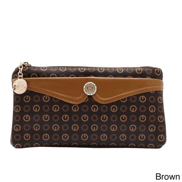 J. Furmani Patterned Zip-around Wristlet