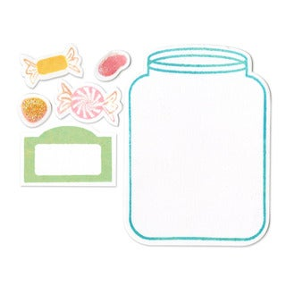 Sizzix Framelits Jar Die Set with Stamps (16 Pack)