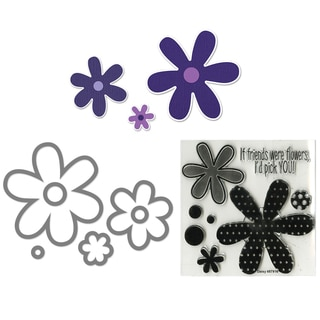 Sizzix Framelits Flowers/ Daisies Die Set with Stamps (6 Pack)