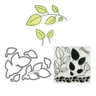 Sizzix Framelits Leaves Die Set with Stamps (6 Pack)