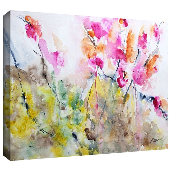 Art Wall Karin Johannesson 'Summer Pink' Gallery-Wrapped Canvas