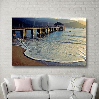 Art Wall Kathy Yates 'A Land Called Hanalei' Gallery-wrapped Canvas