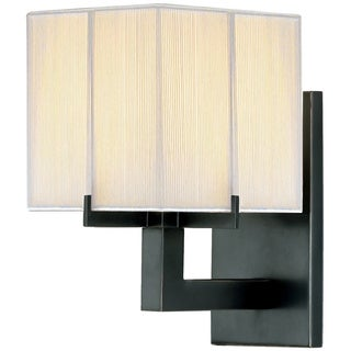 Sonneman Lighting Boxus 1-light Black Brass Cubic Sconce