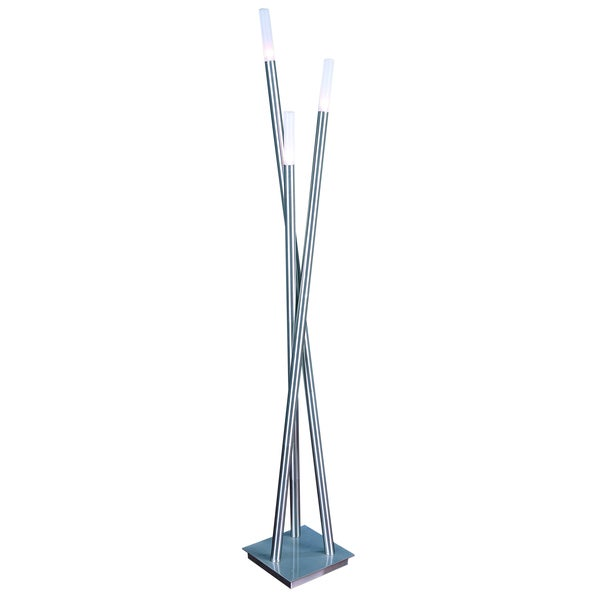 Cavelleto 3-light Brushed Nickel Floor Lamp