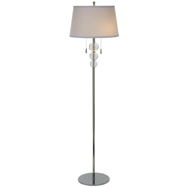 Palla 2-light Polished Chrome Floor Lamp
