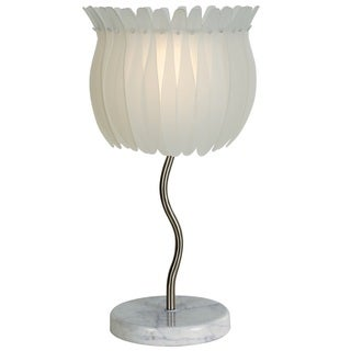 Aphrodite 2-light Brushed Nickel Table Lamp