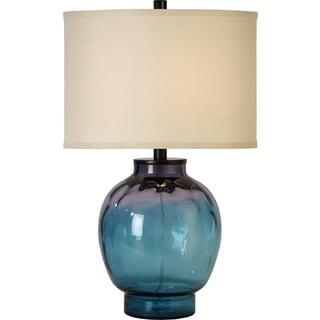 Panacea 1-light Lagoon Waterglass Table Lamp