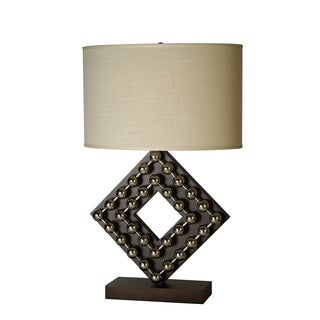 Preston 1-light Espresso Wood Table Lamp