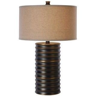 Wave II 1-light Aged Brass Table Lamp