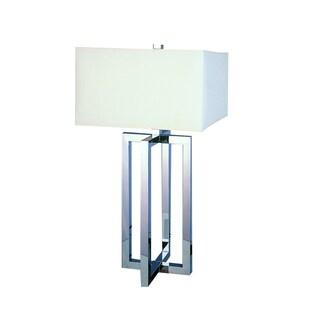 Gustavian 1-light Polished Chrome Table Lamp