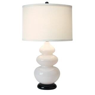 Diva Glass 1-light Glacier White Table Lamp