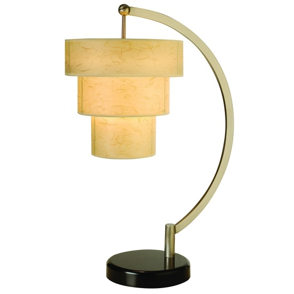 Astoria Arc 1-light Brushed Nickel Table Lamp