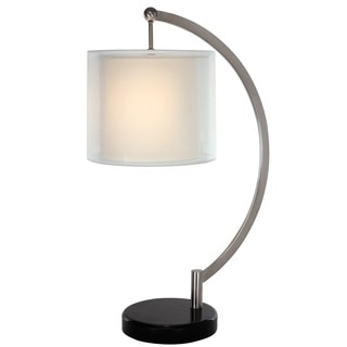 Alpine 1-light Brushed Nickel Table Lamp