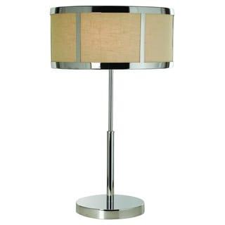 Butler 2-light Polished Chrome Table Lamp
