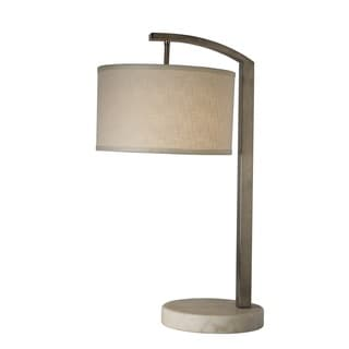 Station 1-light Brushed Nickel Table Lamp