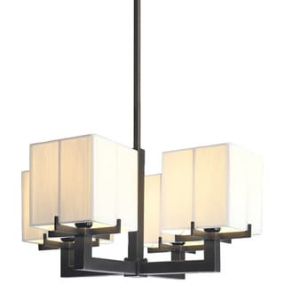 Sonneman Lighting Boxus 4-light Black Brass Pendant
