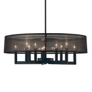 Sonneman Lighting Silhouette 10-light Satin Black Pendant