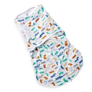 Summer Infant Large SwaddleMe Cotton Wrapsack in Woof Woof
