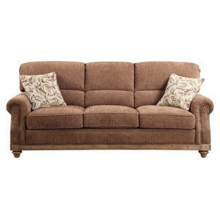 Emerald Grand Rapids Brown Rustic Sofa